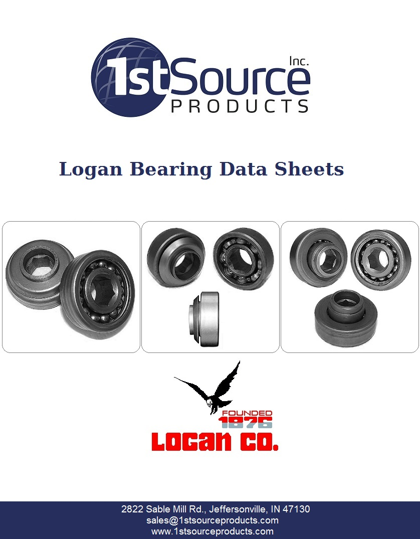 Logan Bearing Data Sheets