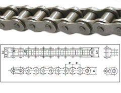 Single Strand Roller Chain 100-1 RB