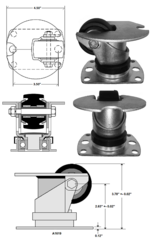 Inverted/Air Cargo Swivel Caster A1619