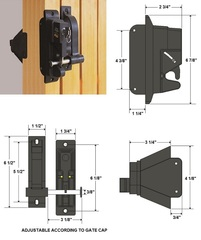 DUAL GUARD KEYED LOCK and LATCH DGL-1