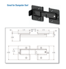 Flip Latch - zinc plate black finish DM4-6169-BK
