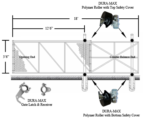 Slide Gate Kit 4 X 12 1st Source Products
