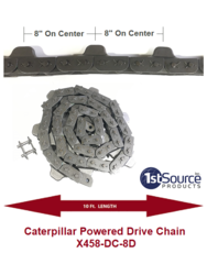 X-458 8 inch Pitch Caterpillar Chain X-458-DC-8D