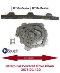 "X-678 Caterpillar Drive Chain with 12"" Dog Centers"