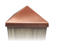 Copper Plated Stainless Steel 4x4 Post Cap DM4-6180-44-CP