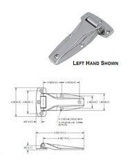Die Cast Zinc Flush Hinge SP-1002SSP
