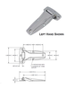 Die Cast Zinc Flush Hinge SP-1003BK