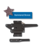 Standard Post Latch Hammered Bronze DM4-38308Q-HBZ