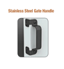 Stainless Steel Gate Handle (Black) DM8-6184-BK