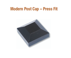 "2"" Modern Post Cap - Press Fit (Mill) DM8-230NL-SBL"
