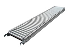 "1 3/8"" Galvanized Steel Roller Conveyor 138-SR-1512-5FT"