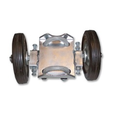"Chain Link Gate - Double Wheel Assembly - 6"" Wheel"