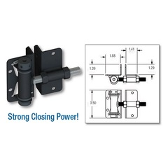 Horizontal Adjustable  Self-Closing Stainless Steel Ornamental Gate Hinge