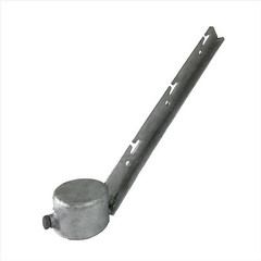Single Corner Arm - Pressed Steel 2-7/8""