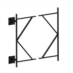 Wood Gate Frame - Tall W/Hinges for 5 ft or 6 ft Gates
