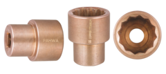 QTi® Non-Sparking 1/2 in. Drive, 12 Point, SAE 3/8 in. Shallow Socket