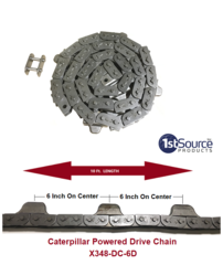 X-348 6 inch Pitch Caterpillar Chain X-348-DC-6D